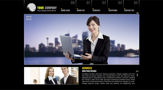 Business Web Design: Business Website Template Layouts and Samples