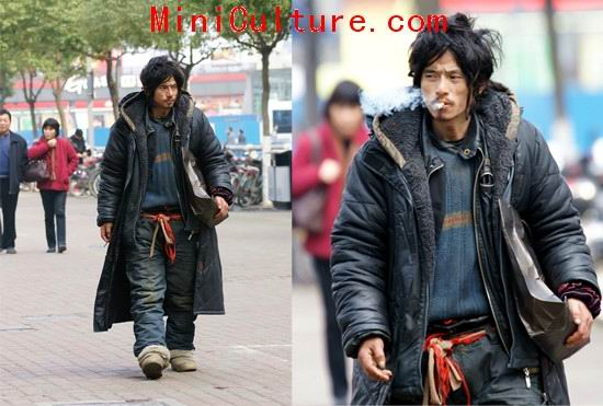 Brother Sharp Xili Ge Fashion: China's Most Handsome Beggar
