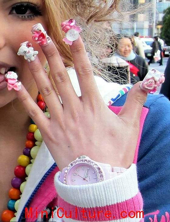 Cute pretty nail designs for school girls