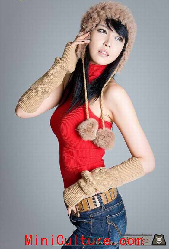 Hot Chinese Girl Bra Color Photo