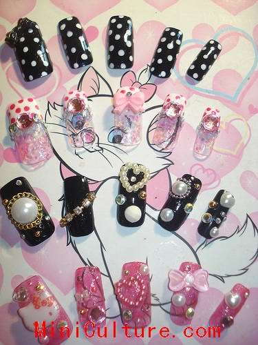 Kawaii Japanese Nail Art Design Pictures