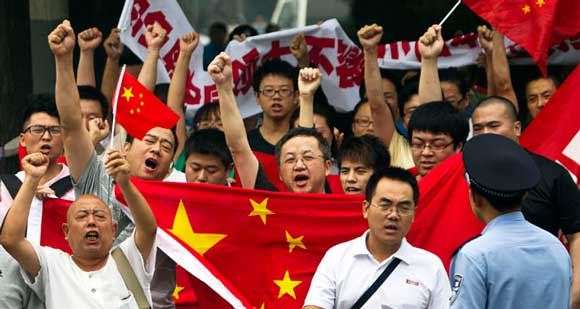 China Anti-Japan Protest on Diaoyu Islands Dispute Photo