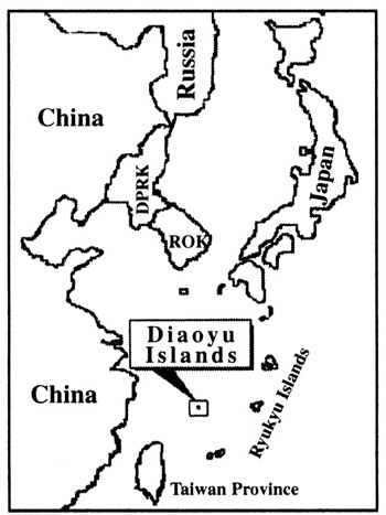 Diaoyu Islands Map