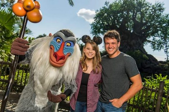 Bindi Irwin Vacationing At Walt Disney World with Boyfriend Chandler Powell